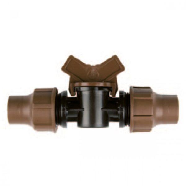 Компрессионная муфта 16 мм и кран BF-92 lock Rain Bird