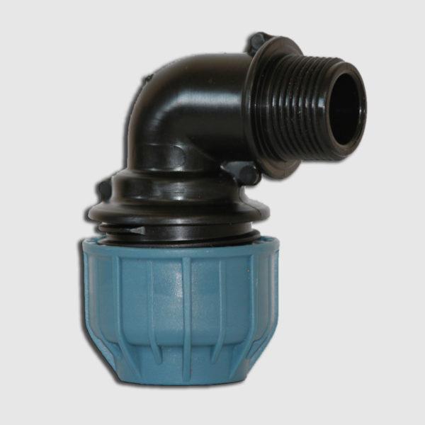 """Уголок для труб из ПНД 90° 32X3/4""""Н JASON PN10"""